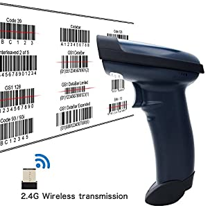 NETUM Wireless Barcode Scanner 2.4GHz Handheld Cordless Bar-code Reader USB Rechargeable Wireless/Wired for POS System NT-1698W