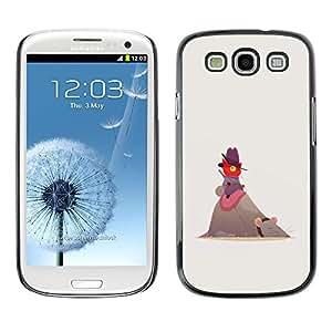 All Phone Most Case / Hard PC Metal piece Shell Slim Cover Protective Case Carcasa Funda Caso de protección para Samsung Galaxy S3 I9300 Cute Funny Cat Mouse Red Beige Cowboy