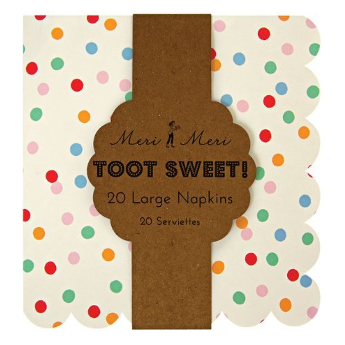 Toot Sweet Spotty Large Napkin Birthday Party by Meri Meri by Meri Meri