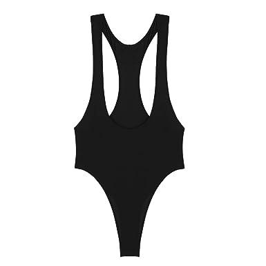 19f70f0de2 iiniim Womens Sexy Sleeveless Open Chest One Piece High Cut Leotard  Bodysuit Thong Swimsuit Lingerie  Amazon.co.uk  Clothing
