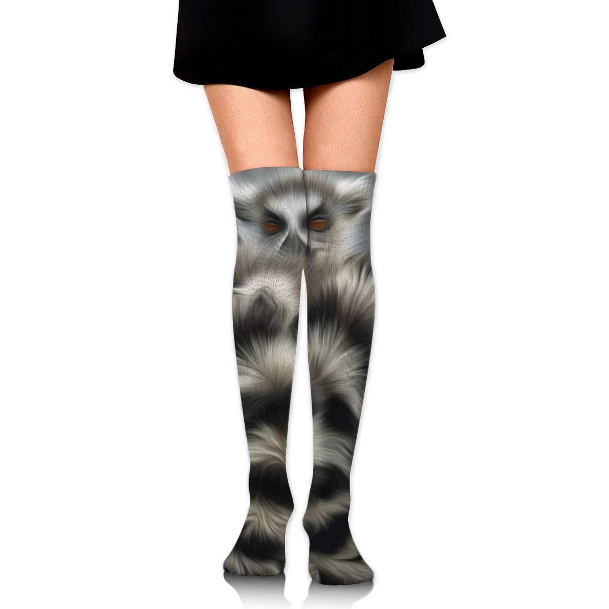 Kjaoi Girl Skirt Socks Uniform Lemur Animals Women Tube Socks Compression Socks
