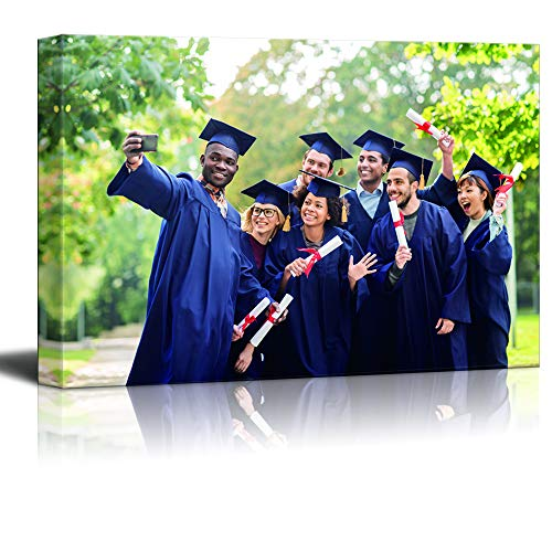SIGNFORD Personalized Canvas Prints Graduation Photo Taken Photos Customize Poster Wall Art with Your Own Pictures Wood Frame Digitally Printed-16x20inches