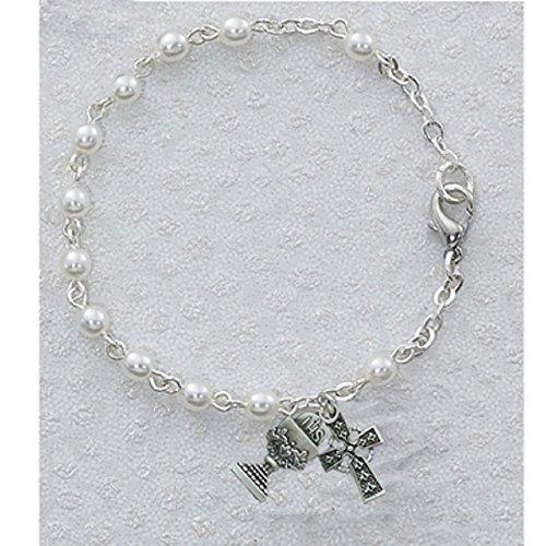 Bracelet Rosary Rhodium Finish Charms product image