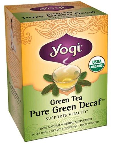 Yogi Herbal organique thé vert sans caféine - 16 Sachets de thé