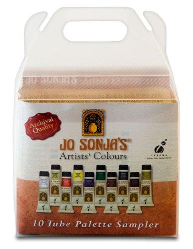 Jo Sonja's Artists' Colours Sampler Set of 10 20 ml Tubes -