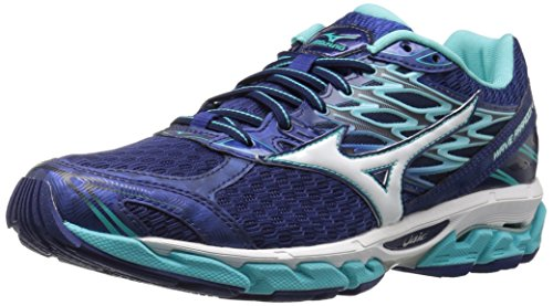 Mizuno Running Women's Wave Paradox 4 Shoes, Blueprint/White/Blue Radiance, 9.5 B US (Blueprint Footwear)