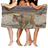 PengMin Sheep Metal Print Premium 100% Polyester Large Bath Towel, Suitable For Hotel, Swimming Pool, Gym, Beach, Natural, Soft, Quick Drying