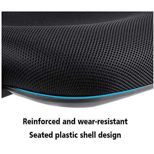 MISS&YG mesh datorstol med ländrygg stöd vridbart rullande verkställande stol lyft armstöd, justerbar höjd, starkt chassi lämplig för familj, studie, kontor, orange Röd