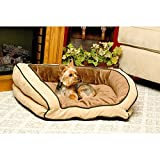 """K&H Pet Products Bolster Couch Pet Bed  Large Mocha/Tan 28"""" x 40"""""""