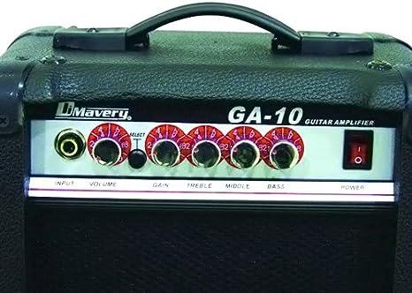 DIMAVERY GA-10 - Amplificador para guitarra eléctrica 10 W: Amazon ...