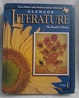 Texas Edition Glencoe Literature (The Readers Choice, Course 1) 0028179285 Book Cover