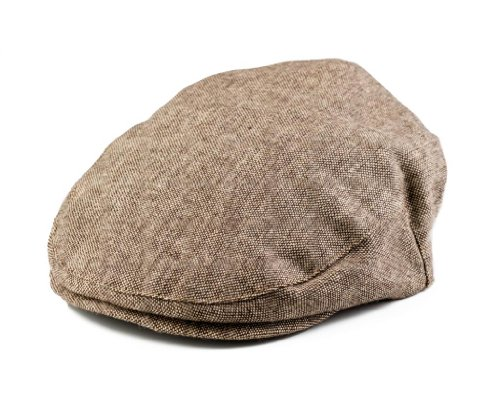 - Born to Love Boy's Tan and Brown Newsboy Cap XS 48cm (12-24 Months)
