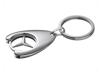 Llavero con moneda para carro de la compra, diseño de Mercedes-Benz
