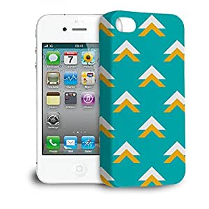 Phone Case For Apple iPhone 4/4S - Geometric Abstract Triangles Teal Lightweight Cover