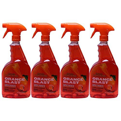 Orange Blast (Greased Lightning Super Strength Cleaner & Degreaser with Orange Oil, Orange Blast, 32 Ounce, (Pack of 4))