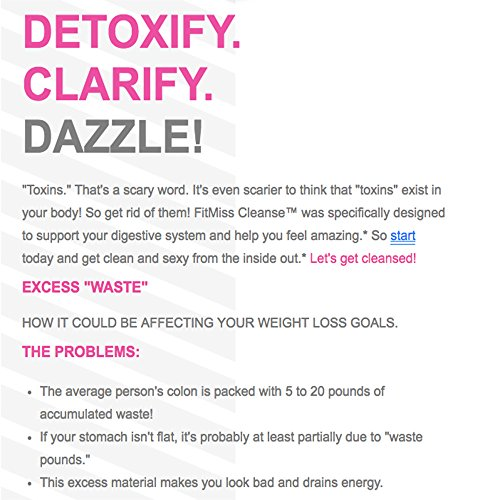 FitMiss Cleanse | Women's Daily Detoxifier & Cleanse | Supports Healthy Body Composition & Daily Weight Management | 30 Servings