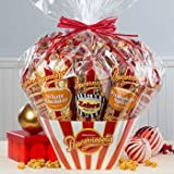 Popcornopolis 7-Cone Variety Popcorn Gift Basket, Gluten Free