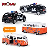 KIDAMI Die-cast Metal Toy Cars Set of 5, Openable