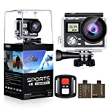 """OGL WIFI Action Camera 4K 24MP Waterproof Ultra HD Remote Sports Camera 2"""" LCD 170° Wide Angle Camcorder with 2 Rechargeable 1050mAh Batteries Mounting Accessories Kits (Upgraded 24MP 128GB)"""