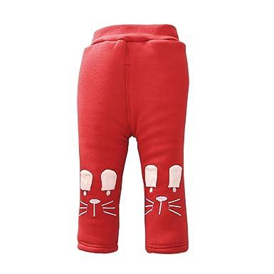 LSERVER Bébé Filles Legging Pantalons Chauds d automne et d hiver Jambières  Collant en 35ca4059a12