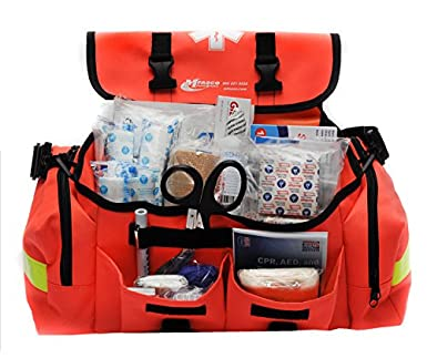 817278262d50 Image Unavailable. Image not available for. Color  MFASCO - First Aid Kit -  Complete Emergency Response Trauma Bag ...