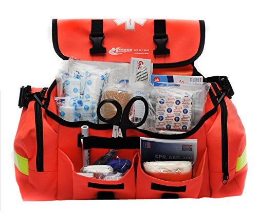 Emergency First Aid Kit - MFASCO - First Aid Kit - Complete Emergency Response Trauma Bag - For Natural Disasters - Orange