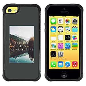 Suave TPU GEL Carcasa Funda Silicona Blando Estuche Caso de protección (para) Apple Iphone 5C / CECELL Phone case / / Adventure Vacation Alaska Lake Nature /