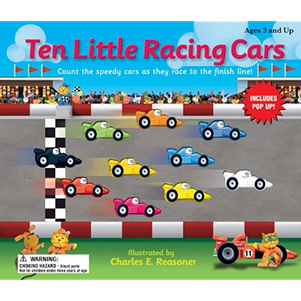 Amazon Com Ten Little Race Cars Ten Little Counting Books 0087577937649 School Specialty Publishing Books