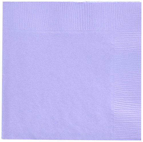 (Lavender 3-Ply Beverage Napkins | Pack of 50 | Party Supply)