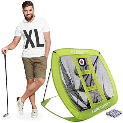 Rukket XL Golf Chipping Net Outdoor Indoor Golfing Practice Target Nets Backyard Ball Hitting Games for Men, Women and Kids