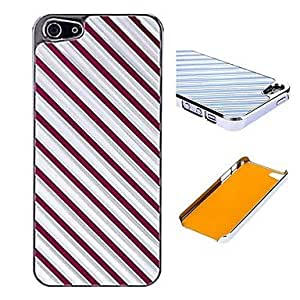 SHOUJIKE Twill Pattern Electroplate Aluminum Hard Case for iPhone 5/5S (Assorted Colors) , Purple