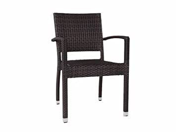 Ascot Stacking Rattan Armchair   Outdoor Chairs   Rattan Garden Dining Chair