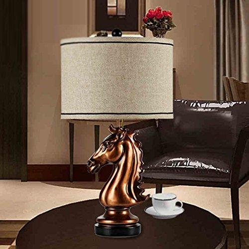 MI LUCE Lily's-uk Love Desk Lamp European Style Lamp Retro Art Horse Head Lamp Decorative Table Lamp Living Room American Lamp