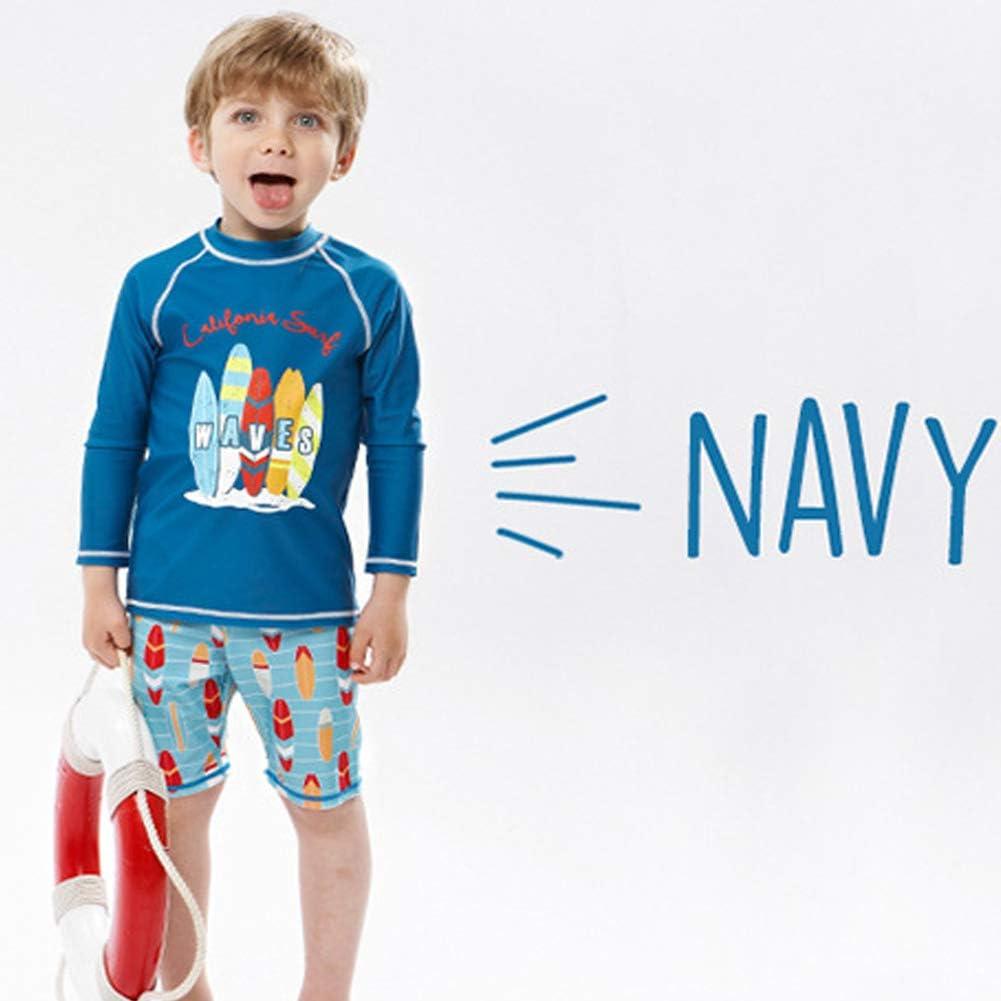 MiYang Boys Swimsuit Rash Guard Toddler Kids Long Sleeve Shark Two Piece