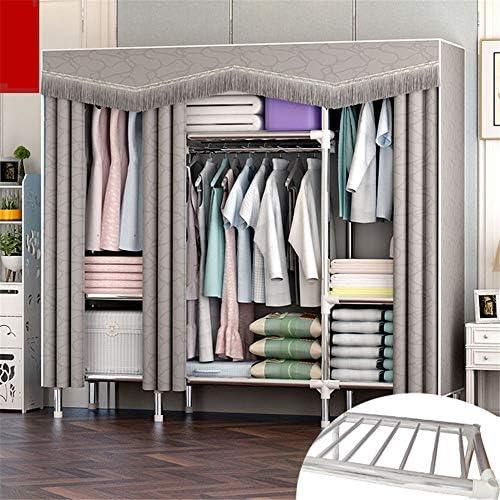 シンプルなワードローブ 繊細なポータブルベッドルーム家具洋服クローゼット不織布ワードローブ折りたたみ布ストレージオーガナイザー シンプルで実用的なデザイン