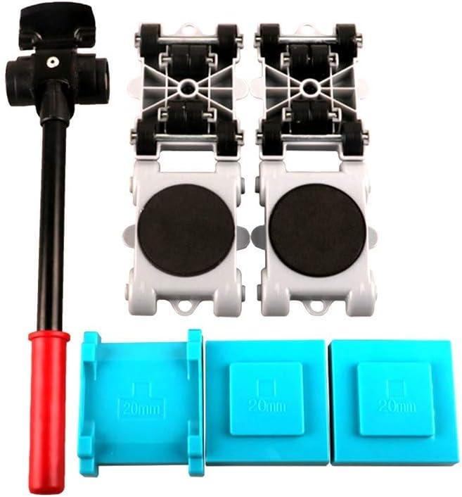 Movimiento Ller Juego 8pcs Profesional Sy Elevador Pesado Cosas Muebles para Mover Herramienta Hogar Transporte Pasadores Extra/íble Uso 360 Grados Tatable