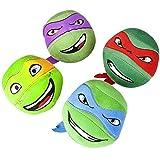 Teenage Mutant Ninja Turtles Head Plush Round Ball Doll Set of 4 Pcs Tmnt 5
