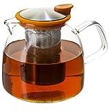 forlife teapot orange - FORLIFE Bell Glass Teapot with Basket Infuser, 43 oz./1280 mL, Orange