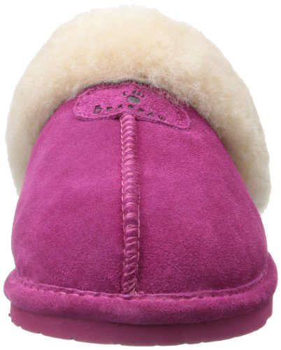 Bearpaw Womens Loki Ii Slide Slipper Pom Berry
