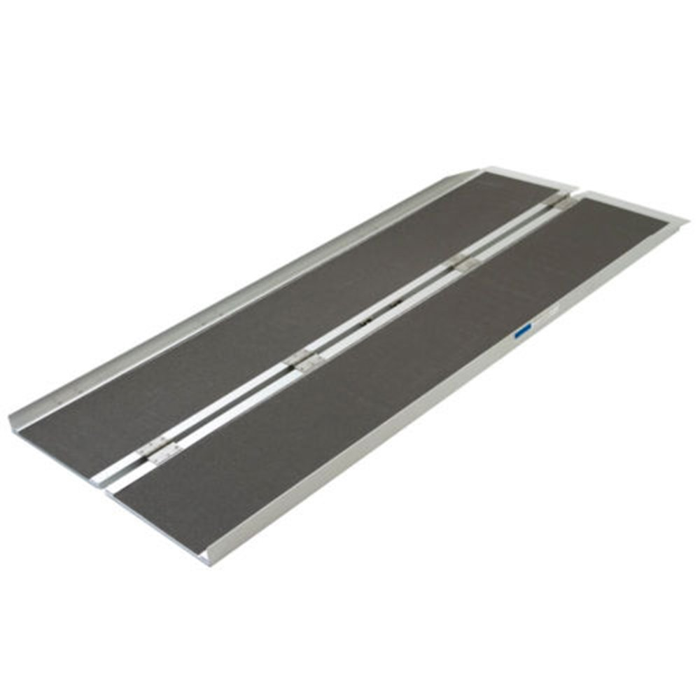 Olymstore 6 ft Portable Aluminum Folding Ramp for Wheelchair Scooters Emergency Hospital -Briefcase Mobility,Non Slip,Home Utility Threshold Steps