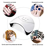 UV LED Nail Lamp - 24W Nail Dryer Light with Sensor and 3 Timer Setting 2 USB Curing All kinds of Gel Nail Polish
