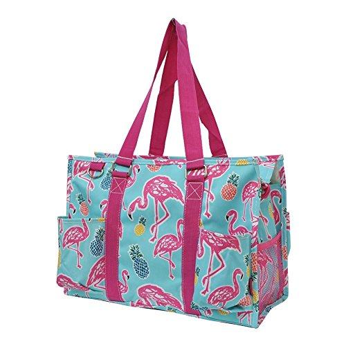 (N Gil All Purpose Organizer Medium Utility Tote Bag 2 (Tropical Flamingo Hot Pink))