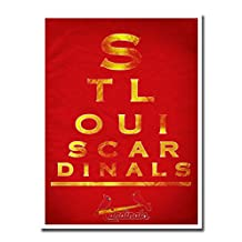 """St Louis Cardinals EYE 12x16"""" Poster Print Wall Art Décor"""