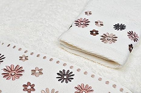 Toalla de baño de invitados de colour crema de la mano de toalla de invitados de