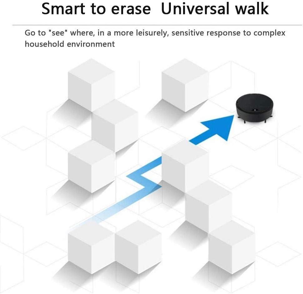Pang Hu Aspirador de Robot, Cilindro de autocarga de succión Fuerte Robot Limpiador Gire el Aspirador automático Smart Clean Robot, diseñado para Pisos Duros y alfombras Delgadas,Black: Amazon.es: Hogar