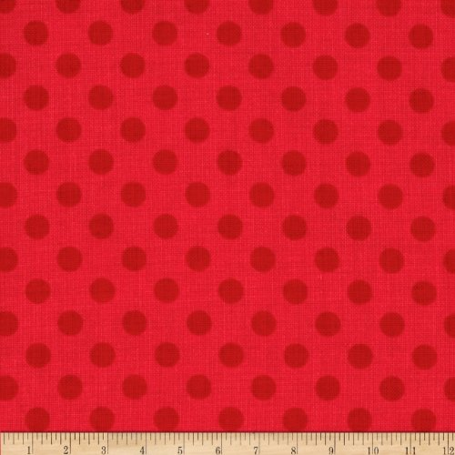 Riley Blake Small Dots Tone on Tone Red Fabric By The - Design Dot Red Product