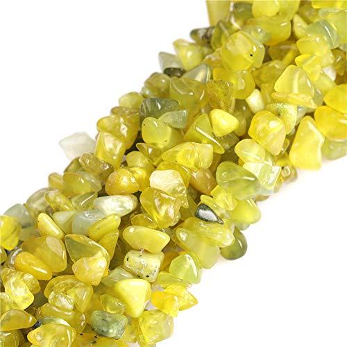 (JOE FOREMAN 7-8mm Lemon Semi Precious Gemstone Chips Loose Beads for Jewelry Making DIY Handmade Craft Supplies 34