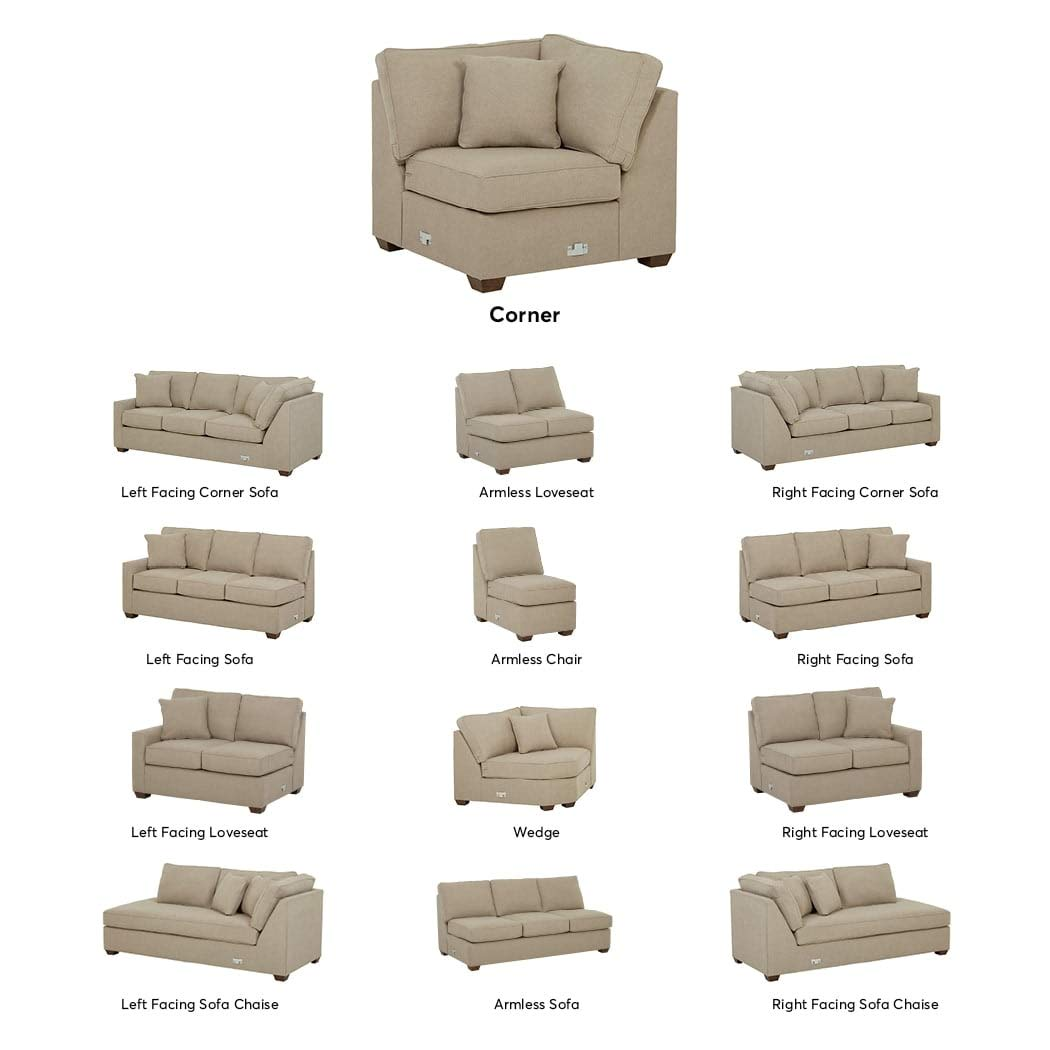 Stone & Beam Bagley Sectional Component, Corner, Fabric, 40''W, Dove
