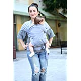 ComfyBaby Infant Wrap Carrier, Heather Grey