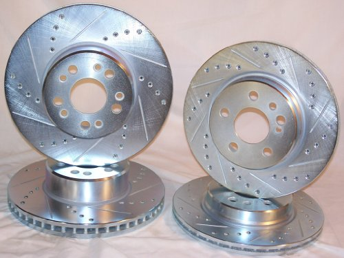 1994 1995 1996 1997 1998 1999 Mercedes Benz S320 S350 [W140 Girling] Front & Rear Disc Brake Rotors +Ceramic Pads